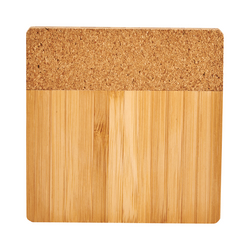 Bamboo & Cork Coaster 4-Piece Set