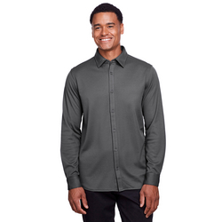Men's CrownLux Performance™ Plaited Button-Down Shirt
