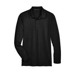 Men's CrownLux Performance™ Plaited Long-Sleeve Polo