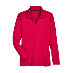 Ladies' CrownLux Performance™ Plaited Long-Sleeve Polo