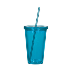 16oz Double Wall Acrylic Tumbler/Straw