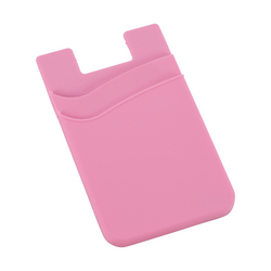 Dual Pocket Slim Silicone Phone Wallet